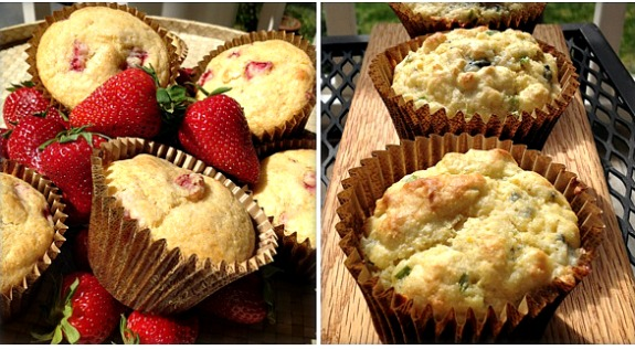 Post image for Cornmeal Buttermilk Muffins~Sweet or Savory #Baketogether