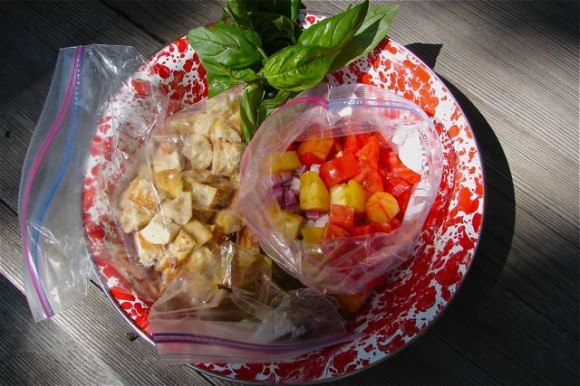 Post image for From The Beach ~ Panzanella Salad To Go